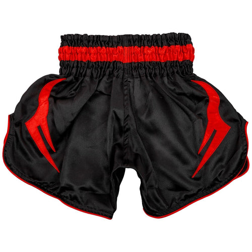 Venum Bangkok Inferno Kids Muay Thai Shorts – Black/Red picture 2