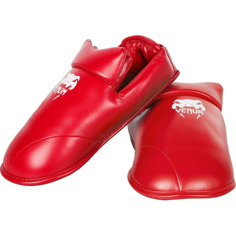Venum Karate Shin Pad & Foot Protector - Red - picture 3