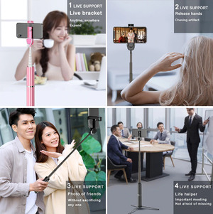 3 in 1 Wireless Bluetooth Selfie Stick Tripod Extendable Mini Monopod Universal For iPhone X XS MAX 8 7 6s Xiaomi Huawei Samsung