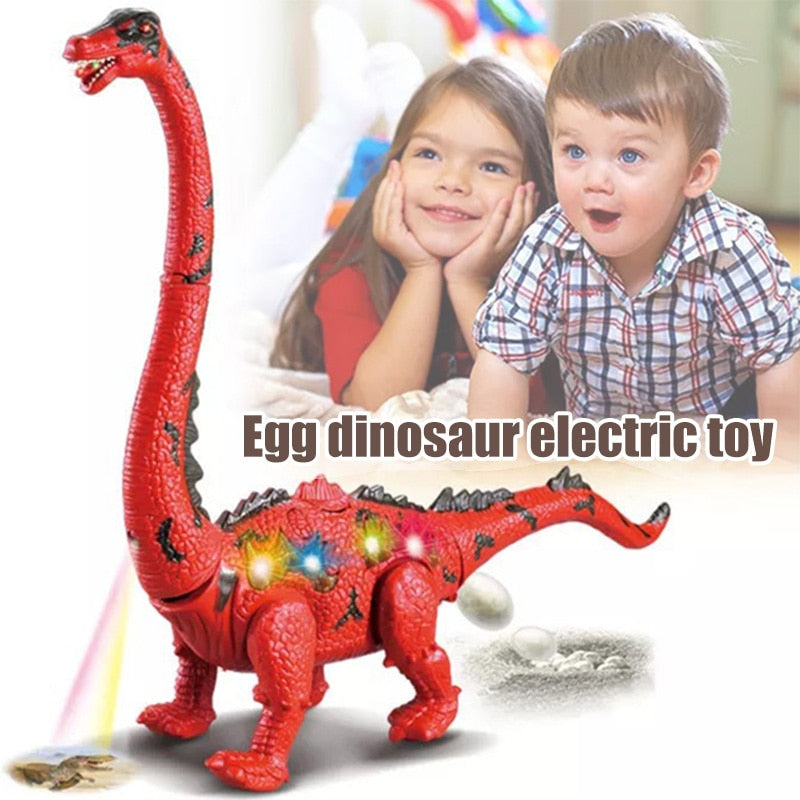 Children Toys Electric Walking Dinosaur Toy Long Neck Lay Eggs Projection Lights Roar Sounds