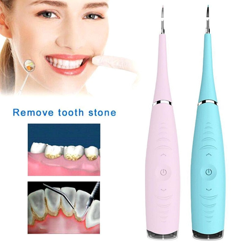 Portable Electric Sonic Ultrasonic Dental Scaler Tooth Stains Tartar Usb Charging