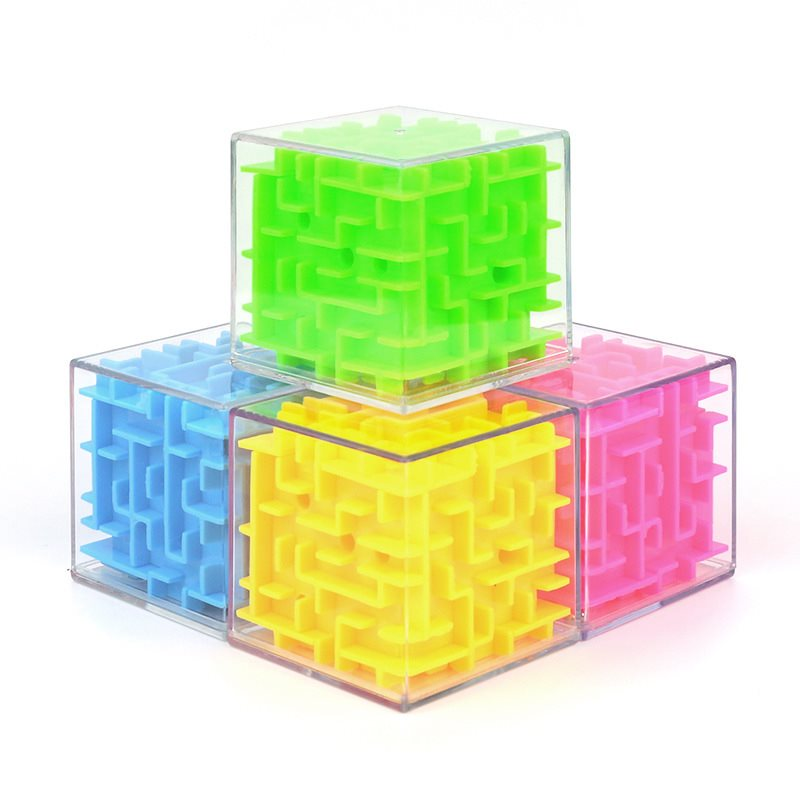 INBEAJY 3D Mini Speed Cube Maze Magic Game Puzzle Cube Magicos Anti-Stress Learning Toys