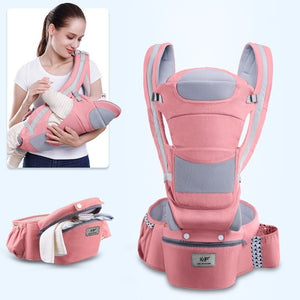 0-48M Ergonomic Baby Carrier Infant Baby Hipseat Carrier Front Facing Ergonomic Kangaroo Baby