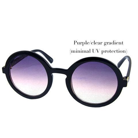 Black with purple/clear gradient lenses