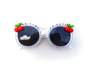 NO TIME TO HATE decorated sunnies