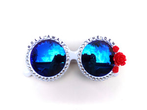 ROLL AWAY THE DEW decorated sunnies