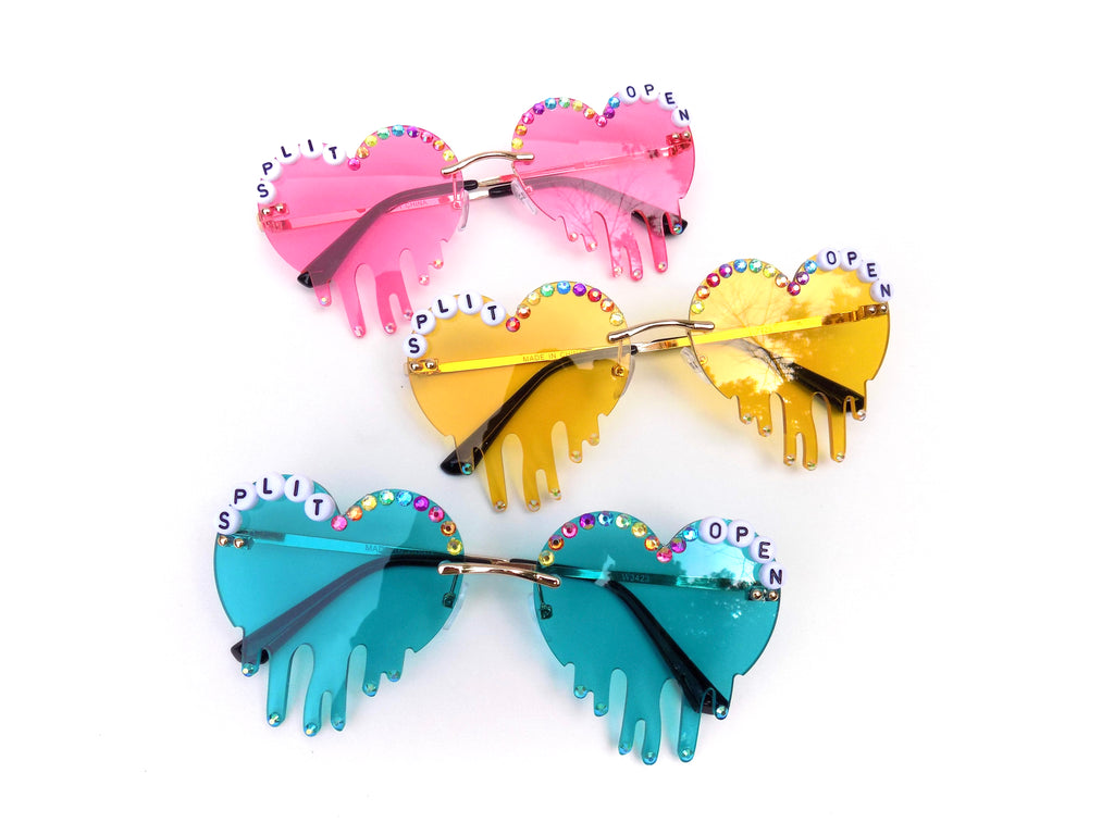 More Colors! SPLIT OPEN and MELT heart shaped glasses