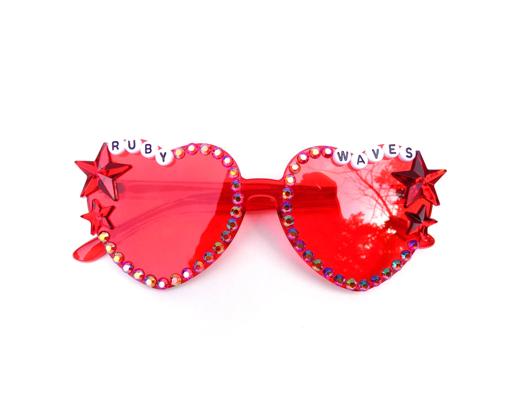 RUBY WAVES heart shaped glasses