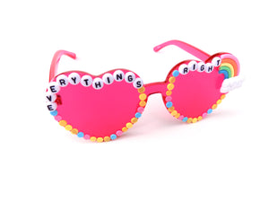 EVERYTHING'S RIGHT heart-shaped sunnies