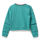 Girls Cotton Knit Full Sleeve T-Shirt AW19-KF-GK-15010 Blue