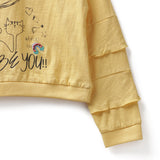 Girls Cotton Knit Full Sleeve T-Shirt AW19-KF-GK-15010 Yellow