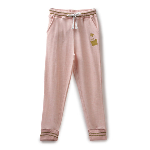 Girls Solid Joggers AW19-KF-GK-15067 Peach