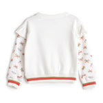 Girls Cotton Knit Full Sleeve Sweat Shirt AW19-KF-GK-15088 White