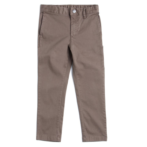 Boys Solid Chinos Full Pant AW19-WC-BKT-170066 Khaki