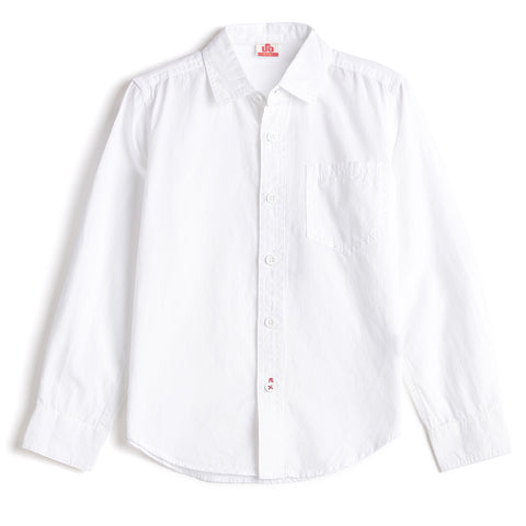Boys Solid Full Sleeve Shirt AW19-WC-BKT-17076 White