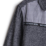 Boys Brushed Twill Full Sleeve Shirt with Y/d Checks @ Front Yoke AW19-WF-BKT-14021 Black