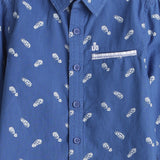Boys Printed Full Sleeve Shirt with Welt Pocket AW19-WF-BKT-14040 Blue