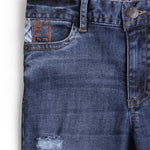 Boys Denim Full Pant With distressed Effect AW19-WF-BKT-14046 Navy