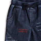 Boys Solid Denim Full Pant With Rib Waist Band AW19-WF-BKT-14047 Navy