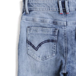 Boys Denim Full Pant With Wash & Distressed Effect AW19-WF-BKT-14050 Blue