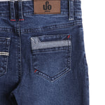 Boys Denim Full Pant With Wash & Distressed Effect AW19-WF-BKT-14050 Navy
