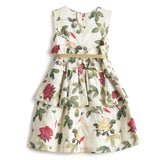 Girls Printed Cotton Sleeveless Dress AW19-WF-GKT-15020 Yellow