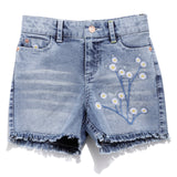 Girls Solid Denim Shorts SS20-DF-GKT-18075 Blue