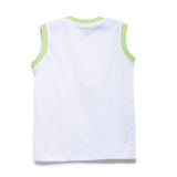 Boys Solid Knit Vest With Chest Print SS20-KF-BKT-17003 White