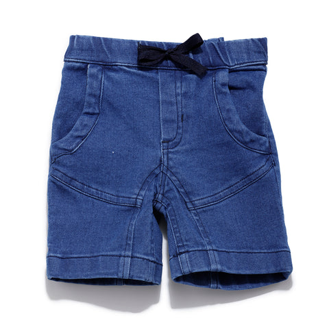 Boys Solid Cut & Sew Denim Short SS20-KF-INF-1135 Blue