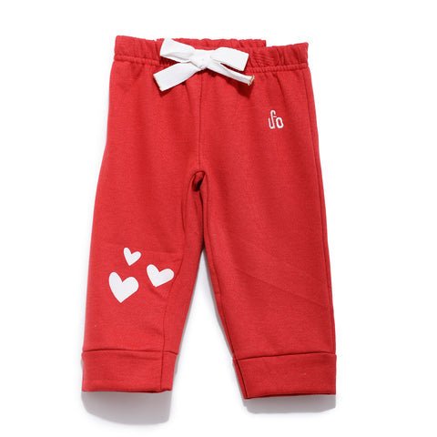 Girls Solid Leggings SS20-KF-INF-2144 Red