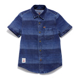 Boys Denim Towel Wash Half Sleeve Shirt SS20-WF-BKT-17050 Blue