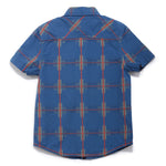 Boys YD Checks Half Sleeve Shirt SS20-WF-BKT-17064 Blue