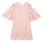 Girls Cotton Full Sleeve Lace Dress SS20-WF-GKT-20011Peach