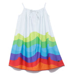 Girls Printed Dress With Strap SS20-WR-GK-18027 WHITE