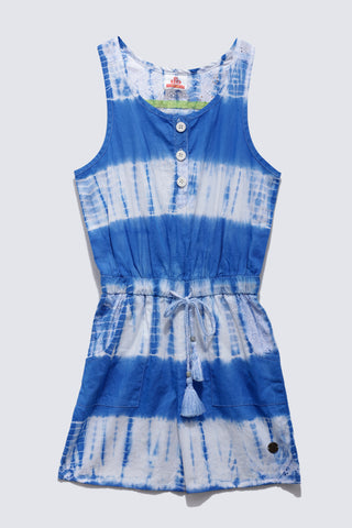 Girls Cotton Tie & Dye Dungaree SS20-WR-GKT-18099 Blue