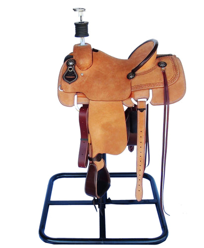 7K Roughout Team Roping Saddle with Dally Post HD and Nevawrap 2.0