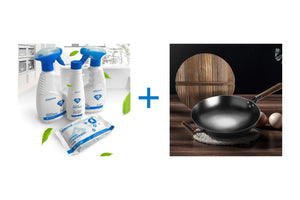 ROBAM- Gift Set: Kitchen Cleaning Set ( 4 Pieces) + Chinese Wok - ROBAM