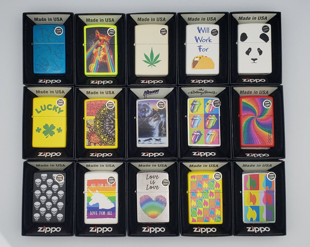 Zippo Lighters - Pop Design