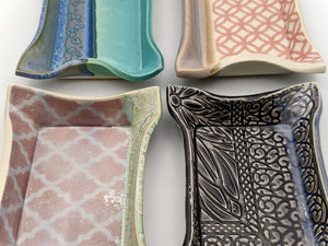 Morghan Gray Ceramic Trays