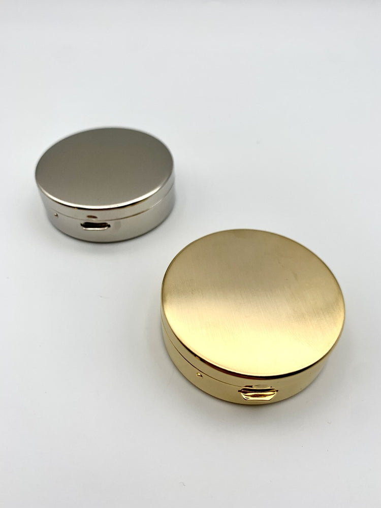 Tsubota Pearl Metal Pill Box with Mirror