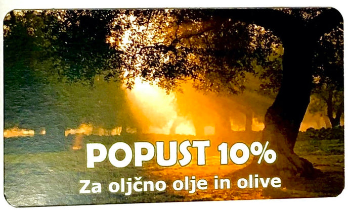 10% Discount For All Kinds Of Olive Oil And Olives.