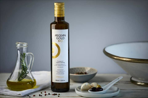 Organic Olive Oil AEGEAN GOLD BIO | Best Greek Extra Virgin Olive Oil | GREEN PAPA