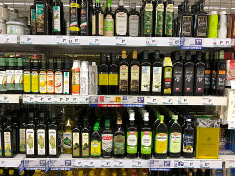 How to buy olive oil in supermarket? Don't even try. Buy real olive oil online - GREEN PAPA.