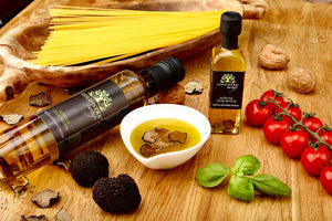 Extra virgin olive oil with truffle - Best farm olive oil - GREEN PAPA