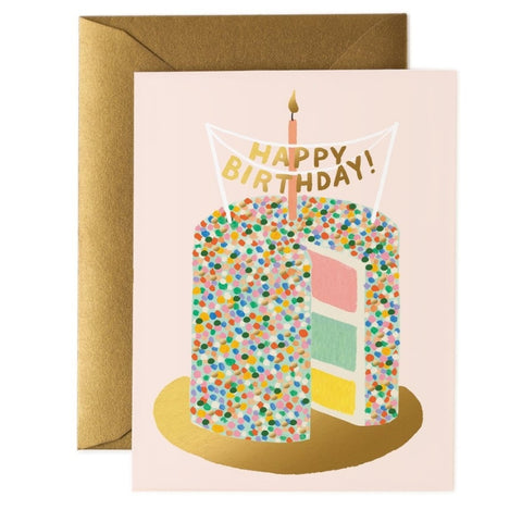 One of Postmark's best selling Rifle Paper cards - Layer Cake