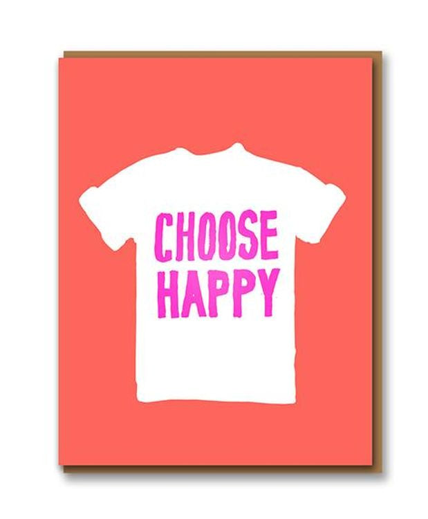 Letterpress - Choose Happy