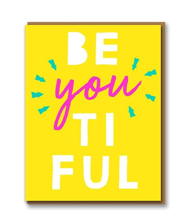 Letterpress - Be 'you' tiful