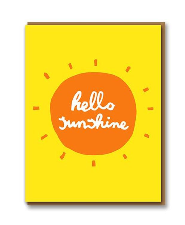 Letterpress - Hello Sunshine