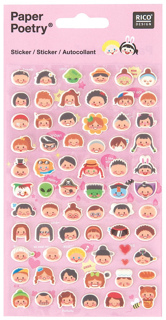 Rico Stickers - Smiling faces