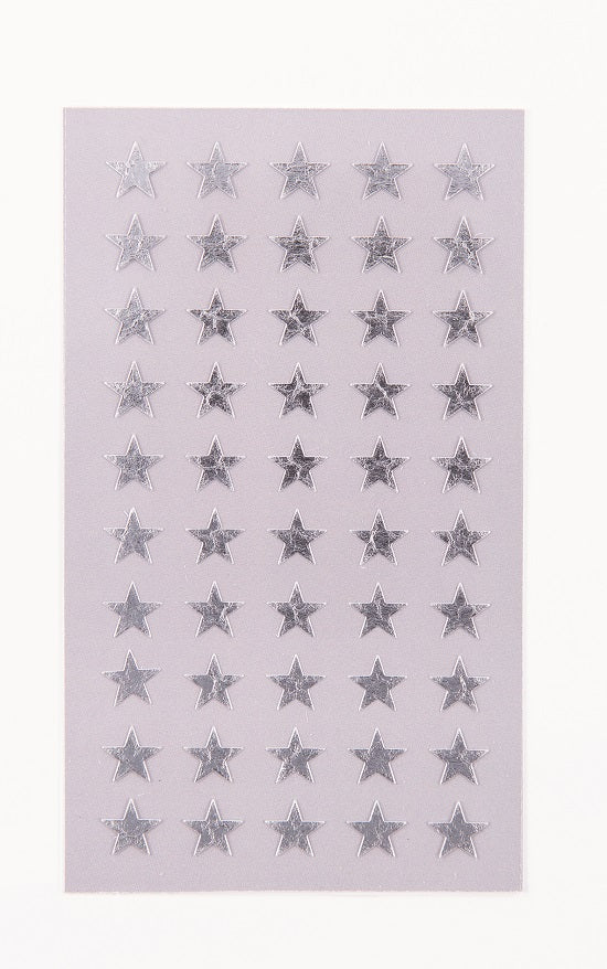 Rico Stickers - Silver stars 10mm